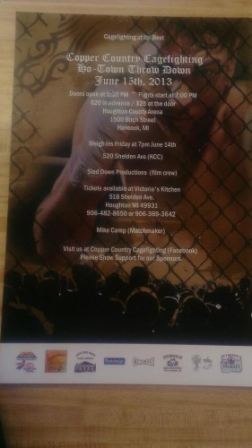 Copper Country Cagefighting - Ho-Town  Throwdown