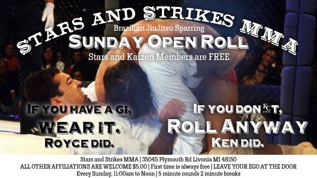 Stars and Strikes MMA's Sunday Open Roll